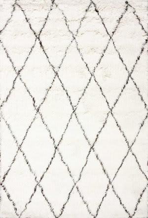 Nuloom Handmade Marrakech Shag Ivory Area Rug