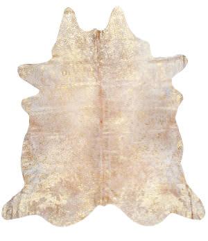 Nuloom Handmade Dorian Cowhide Gold Area Rug