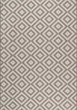 Nuloom Marybelle Tribal Diamond Beige Area Rug