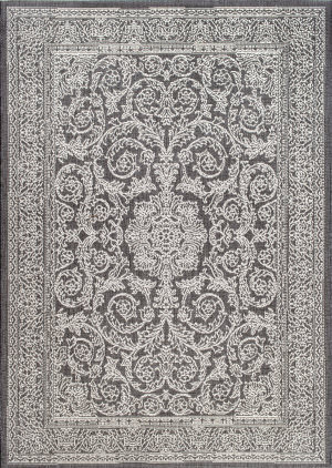 Nuloom Thomas Paul Floral Medallion Grey Area Rug