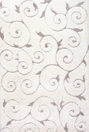 Nuloom Machine Made Maisha Cream Area Rug