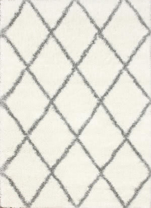 Nuloom Machine Made Diamond Shag Grey Area Rug