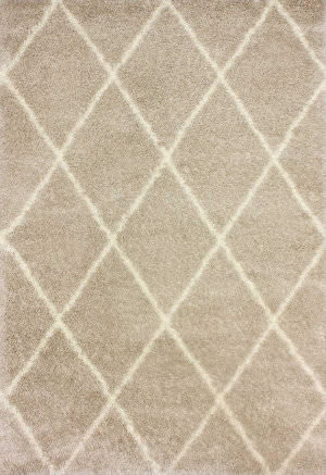 Nuloom Machine Made Diamond Shag Beige Area Rug
