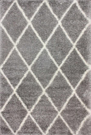 Nuloom Machine Made Diamond Shag Ash Area Rug