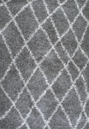 Nuloom Alvera Easy Shag Grey Area Rug