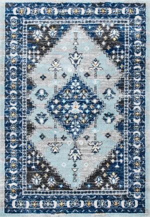 Nuloom Brandee Vintage Shaggy Blue Area Rug