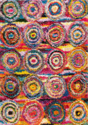 Nuloom Kindra Circles Shaggy Multi Area Rug