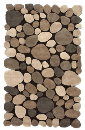 Nuloom Hand Tufted Pebbles Natural Area Rug