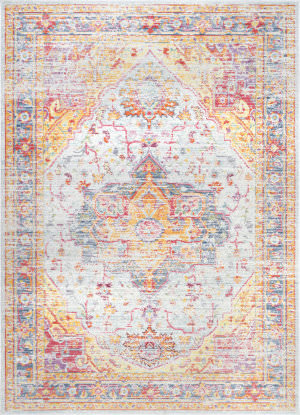 Famous Maker Vintage Malorie Light Blue Area Rug