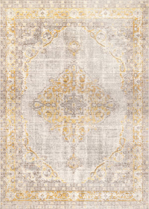 Famous Maker Vintage Brenda Light Gray Area Rug