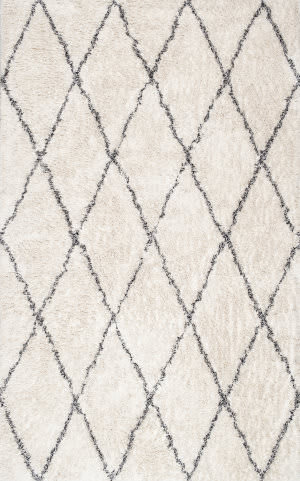 Nuloom Sheba Cotton Diamond Ivory Area Rug