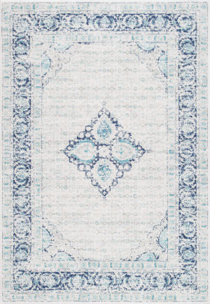 Nuloom Vintage Pauley Light Blue Area Rug