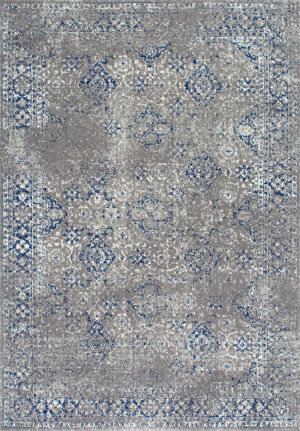 Nuloom Distressed Mabelle Dark Blue Area Rug