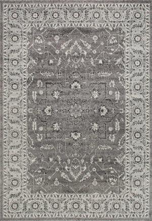 Nuloom Vintage Abbey Blossom Dark Grey Area Rug