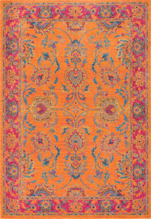 Nuloom Floral Persian Mirella Orange Area Rug