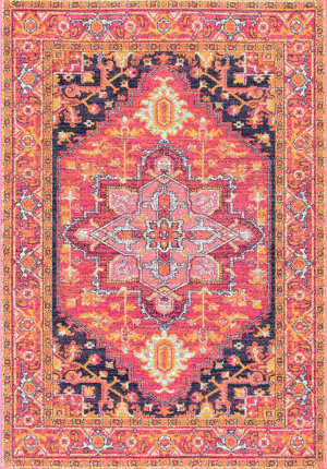 Nuloom Fancy Persian Vonda Pink Area Rug