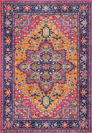 Nuloom Fancy Persian Vonda Orange Area Rug