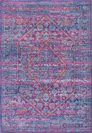 Famous Maker Vintage Rima Purple Area Rug