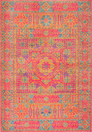 Nuloom Vintage Emelda Orange Area Rug