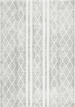 Famous Maker Sarina Diamonds Grey Area Rug