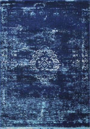 Nuloom Tanja Overdyed Medallion Blue Area Rug