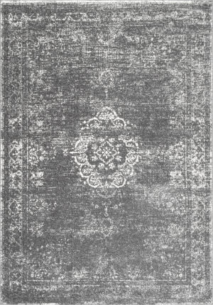 Nuloom Tanja Overdyed Medallion Grey Area Rug