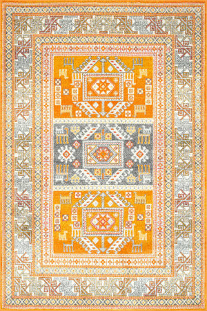 Nuloom Tribal Marisela Yellow Area Rug