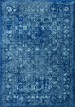 Famous Maker Herminia Vintage Blue Area Rug