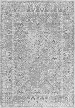 Nuloom Herminia Vintage Trellis Grey Area Rug