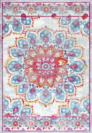Nuloom Vintage Floral Kiyoko Pink Area Rug