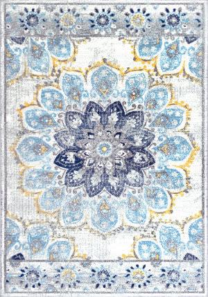 Nuloom Vintage Floral Kiyoko Blue Area Rug