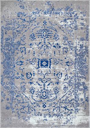 Nuloom Vintage Tribal Shaina Blue Area Rug