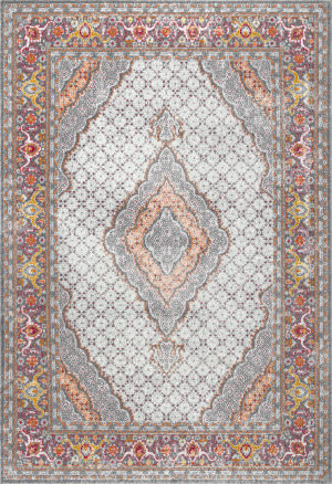 Nuloom Jessia Persian Medallion Orange Area Rug