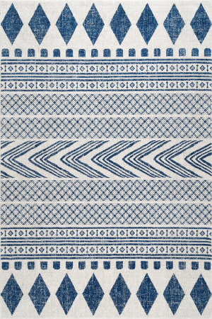 Famous Maker Shaina Tribal Blue Area Rug