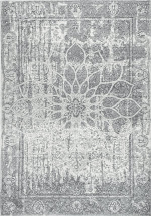 Nuloom Roxane Faded Rosette Grey Area Rug