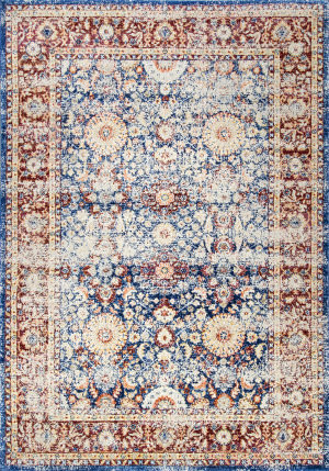 Nuloom Vintage Persian Zoila Blue Area Rug