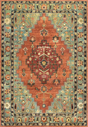 Nuloom Tribal Medallion Maricruz Rust Area Rug