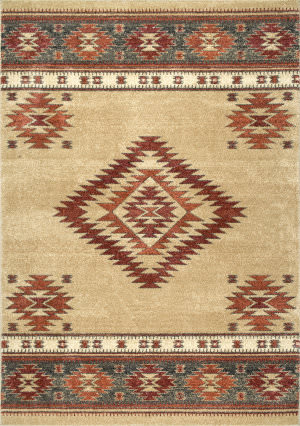 Nuloom Tribal Diamond Margene Beige Area Rug