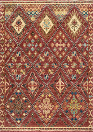 Nuloom Fraley Trellis Shaggy Rust Area Rug