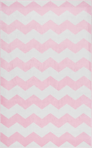 Nuloom Aponte Chevron Pink Area Rug