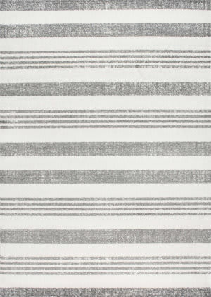 Famous Maker Striped Kelsi Grey Area Rug