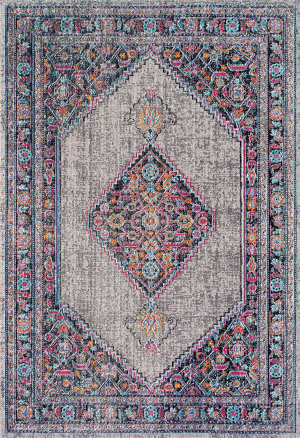 Nuloom Vintage Medallion Dortha Grey Area Rug