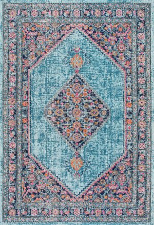 Nuloom Vintage Medallion Dortha Blue Area Rug