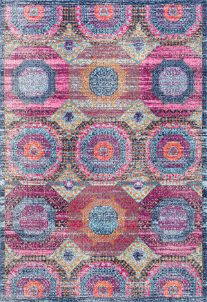Nuloom Faded Medallion Marva Multi Area Rug