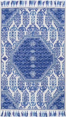 Nuloom Corey Paisley Tassel Blue Area Rug