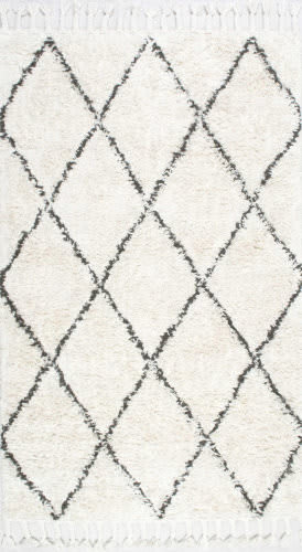 Nuloom Hand Knotted Fez Shag Natural Area Rug