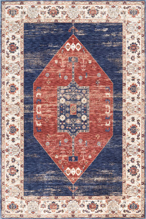 Nuloom Analisse Vintage Medallion Rust Area Rug