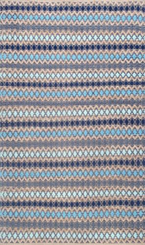 Nuloom Ellamae Diamond Chevron Blue Area Rug