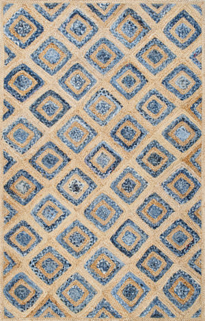 Nuloom Rosalva Diamonds Jute Denim Area Rug
