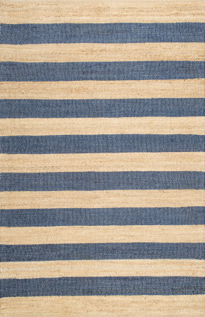 Nuloom Flatweave Alisia Stripes Denim Area Rug